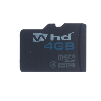 WHD SD04D Class 6 4GB Micro SD Card (Black)