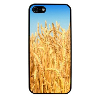 Wheat Pattern Phone Case for iPhone 4/4S (Black)