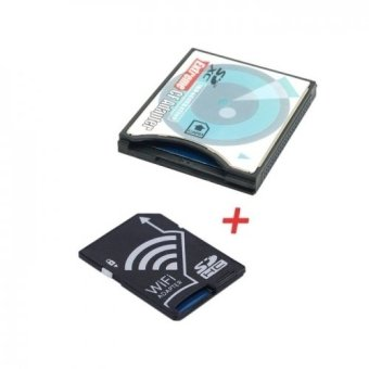 WIFI Adapter Wireless Memory Card TF Micro SD to SD SDHC to CFCompact Flash Card Kit for Cell Phone Tablet DC DV SLR Camera