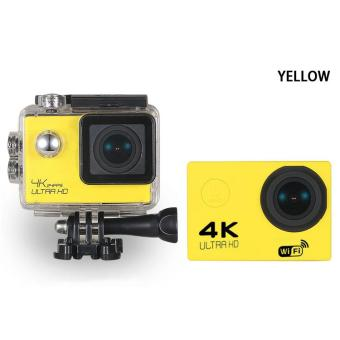WIFI Video Camera 4K HD 1080P 16MP Helmet Sport Action WaterproofDV Cam for Gopro (Yellow)