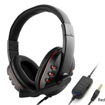 Wired Gaming Headset Headphones w/ Microphone / Voice Control for PS4 One - intl