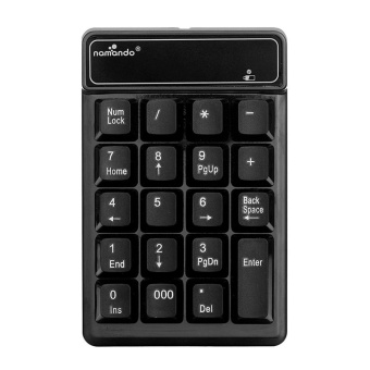 Wireless 2.4GHz 19 Keys Number Pad Numeric Keypad Keyboard forLaptop PC - intl