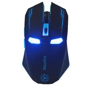 Wireless Adjustable Mute Button Silent Click Gaming Mouse (Black)