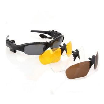 Wireless Bluetooth 4.0 Stereo Headset Driving Call Music HandsfreeSmart Sunglasse sport Riding Eyes Glasses Smart Sunglass - intl - 2