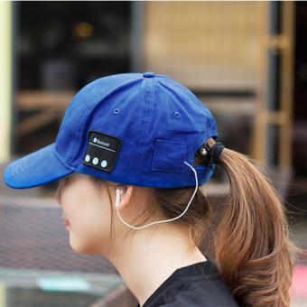 Wireless Bluetooth Headphone Sports Baseball Cap Canvas Sun HatMusic Headset with Mic Speaker for Smart Phone(black)(canvas) - 2