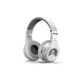 Wireless Bluetooth Headphones BT 4.1 Version Stereo Bluetooth Headset built-in Mic (White ) - Intl