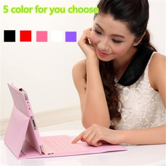 Wireless Bluetooth iPad Keyboard Leather Case Cover For Apple iPad 5 6 Air1 Air 2 - intl