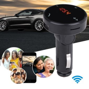 Wireless Car Kit MP3 Player Radio Bluetooth FM Transmitter SD USBCharger Remote - intl