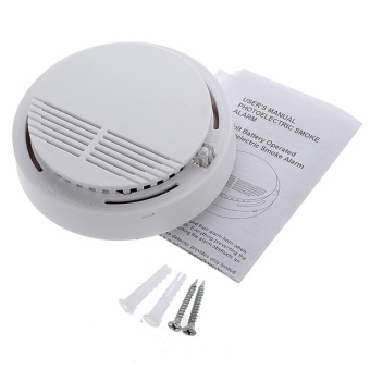 Wireless Cordless Smoke Detector Home Security Fire Alarm Sensor System Battery