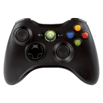 Wireless Game Controller For Xbox/Xbox 360 Microsoft (Black)