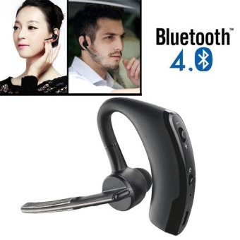 Wireless Headset, Bluetooth 4.0 Earphone Hands-Free Stereo Headset With Mic Noise Cancelling For Business, Driving, Sports Color:Black - intl