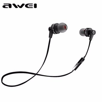 Wireless Sport Bluetooth 4.0 Earphone Stereo Headset Headphone withMic Microphone Sweatproof In-ear Headphone For iPhone Samsung SmartPhones - intl