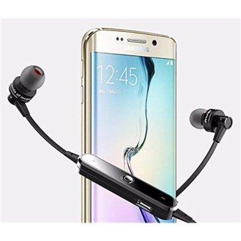 Wireless Sport Bluetooth 4.0 Earphone Stereo Headset Headphone withMic Microphone Sweatproof In-ear Headphone For iPhone Samsung SmartPhones - intl - 2