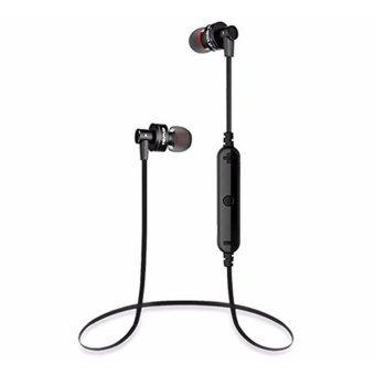 Wireless Sport Bluetooth 4.0 Earphone Stereo Headset Headphone withMic Microphone Sweatproof In-ear Headphone For iPhone Samsung SmartPhones - intl - 3