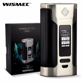 Wismec Predator 228W Variable Temperature Control Electronic Cigarette Box Mod (Silver/Black)