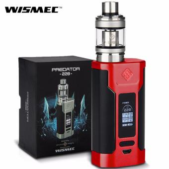 Wismec Predator 228W Variable Temperature Control Electronic Cigarette Kit (Red/Black)