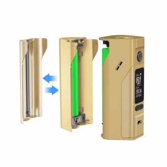 Wismec Reuleaux RX2/3 200W Variable Electronic Cigarette Mod (Gold) with Coil Master Portable Pouch Bag for e-Cig (Color May Vary) - 2