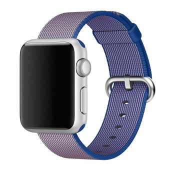 Woven Fabric Loop Strap Nylon Watch Band for Apple Watch 38mm inRoyal Blue