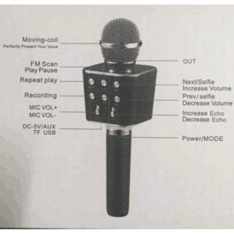 WS-1688 Bluetooth wireless Micphone(Black) - 2