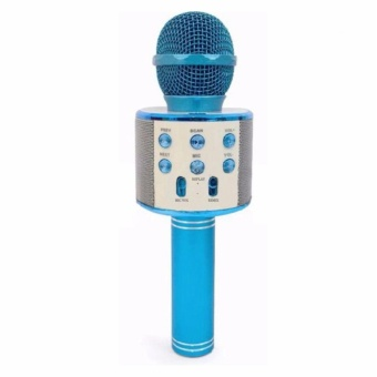 WS-858 NEW Karaoke Microphone and Wireless Bluetooth Hi-Fi Speaker (Blue) Price Philippines