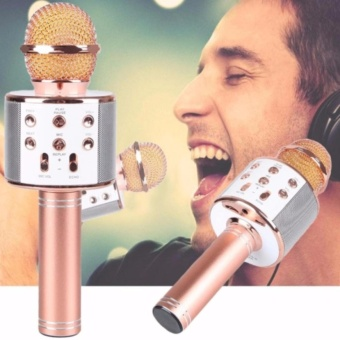 WS-858 Wireless Karaoke Bluetooth Microphone HIFI Speaker
