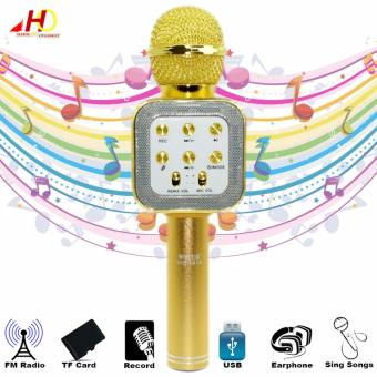 WS1818 Wireless Bluetooth Microphone Hi-Fi Speaker (Gold)