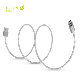 WSKEN X-Cable USB 2.0 Magnetic Micro USB Intelligent Data SyncCharging Cable for Universal (Silver)