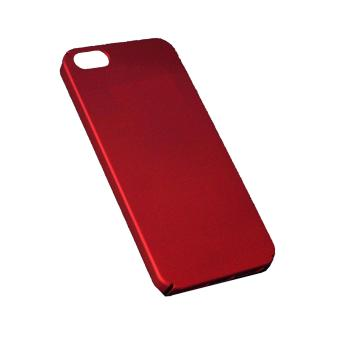 X-Level Slim Matte Rubberized Finish Hard Case For Apple iPhone 5s (Red) - 3