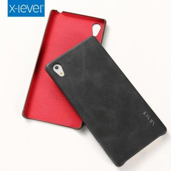 X-LEVEL Vintage Series Leather Skin Hard Case for Sony Xperia Z5 /Z5 Dual - Black - intl
