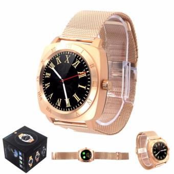 X3+ Stainless Steel Bluetooth Smart Watch Phone With SIM and TFCard (Gold)