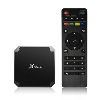 X96mini Smart Android 7.1.2 TV Box Amlogic S905W Quad Core UHD 4K H.265 VP9 HDR10 Mini PC 1GB / 8GB DLNA WiFi LAN HD Media Player US Plug - intl