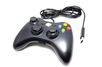 Xbox 360 (WIRED) USB Game Controller Gamepad Joypad Joystick For Xbox 360 Controler and PC Controller wired (Black) - 2