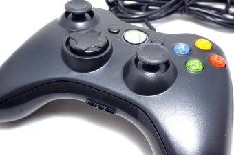 Xbox 360 (WIRED) USB Game Controller Gamepad Joypad Joystick For Xbox 360 Controler and PC Controller wired (Black) - 3