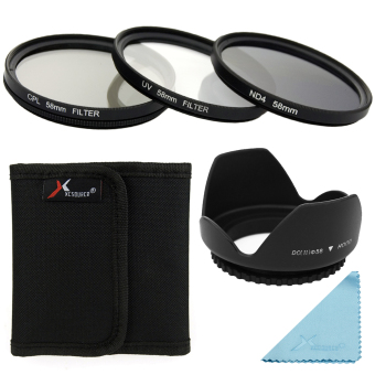 XCS(R) UV CPL ND4 Filter Set + Lens Hood 58mm for Canon 550D
