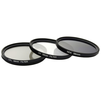 ... XCS(R) UV CPL ND4 Filter Set + Lens Hood 58mm for Canon 550D ...