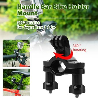 XCSOURCE 360 Degree Rotation Handle Bar Bike Holder Mount for GoProHD Hero 2 3 3+ OS202