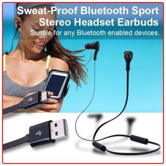 XCSOURCE Sweat-Proof Bluetooth Headset (Black)
