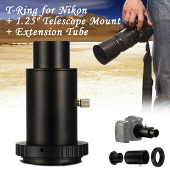 XCSOURCE T-Ring + 1.25 inch Telescope Mount Adapter + Extension Tube for Nikon DSLR DC619