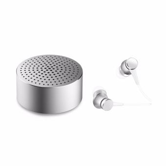 Xiaomi HSEJ03JY Mi In-ear Headphone Basic (Matte Silver) withXMYX02YM Mi Mini Bluetooth Portable Speaker (Silver)
