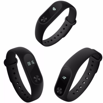 Xiaomi Mi Band 2 OLED Display Smart Bluetooth Wristwatch compatible on Smartphones/IOS/iPhones (Black) with Free USB Fan