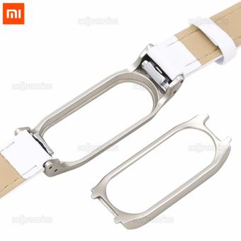 Xiaomi Mi Band 2 Replacement Leather Wrist Strap (White) - 5
