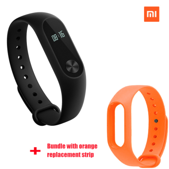 Xiaomi Mi Band 2 Smart Bluetooth Wristband+Orange Replacement Strip(Bundle)