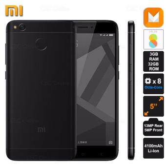 Xiaomi Redmi 4X 3GB RAM 32GB ROM 13MP 5MP Camera Octa-Core Dual SIM 4G LTE 4100mAh Fingerprint (Black)