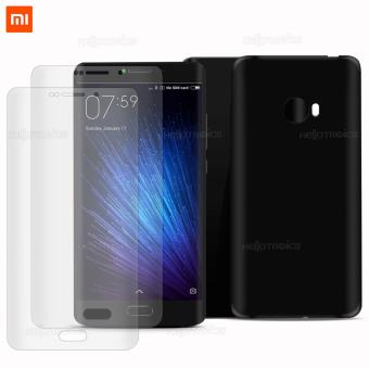 Xiaomi Tempered Glass Set of 2 (Clear) with Jelly Case for Mi Note 2 (Black)