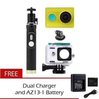 Xiaomi Yi 16MP Sports and Action Camera with Kingma WaterproofCase, Yi Monopod and Remote with Dual Charger and Battery