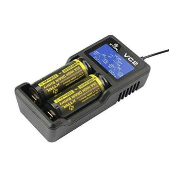 XTAR VC2 Premium USB Charger w/ LCD Screen Display (MC Series Upgrade) Li-ion Battery Charger(no include batteries)