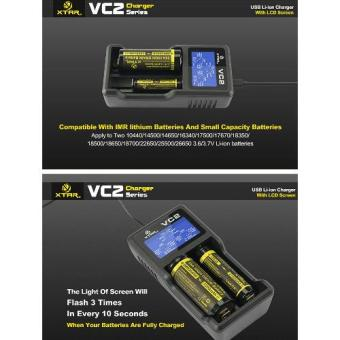 XTAR VC2 Premium USB Charger w/ LCD Screen Display (MC Series Upgrade) Li-ion Battery Charger(no include batteries) - 4