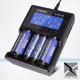 XTAR VC4 USB Li-ion/Ni-MH Premium Battery LCD Charger - VapeCharger with Pouch (Battery not Included)