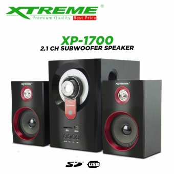 Xtreme XP-1700 2.1CH Multimedia Speaker System (Black)