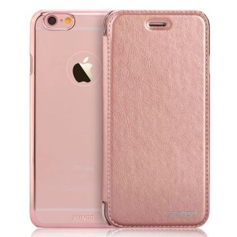 XUNDD PU Leather Flip Cover for iPhone 6 Plus/6s Plus (Rose Gold)
